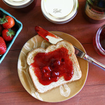 Strawberry balsamic jam photo