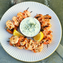 Greek Shrimp with Tzatziki Sauce Recipe