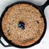 Blueberry Chocolate Chip Skillet Cookie Recipe
