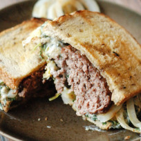Spinach Artichoke Patty Melt Recipe