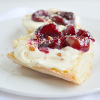Roasted Cherry Toasts with Honey Nut Cream Cheese Recipe
