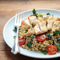 Freekeh Salad with Chicken Recipe