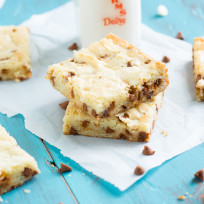 White Chocolate Brownies with Cinnamon Chips Recipe