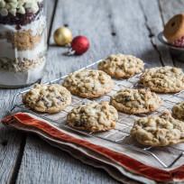 Cranberry White Chocolate Cookies in a Jar Recipe