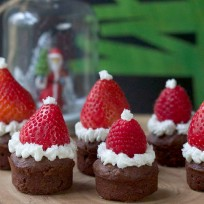Santa Hat Brownies Recipe