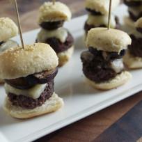 Mushroom Burgers on a Stick Recipe