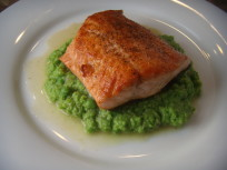 Simple Salmon Recipe: With Peas and Lemon!