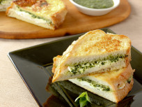 Mozzarella in Carrozza: Now with Pesto!