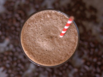 Dairy Free Mocha Frappe: With Coconut and Chocolate Syrup