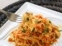 Spaghetti Squash with Walnut-Carrot Sauce: A Paleo Pasta