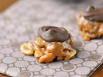 Caramel Nut Clusters: Filled with Almonds, Peanuts and Pecans!