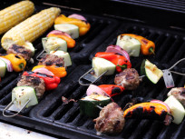 Grilled Meatballs: Grilled, Gorgeous, and a FireWire Giveaway