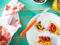 Pickled Peppers with Black Bean Pâté: Easy Sophisticated App