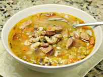 Sausage Bean Soup Warms You Up