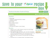 New to Food Fanatic: Ziplist Recipe Box