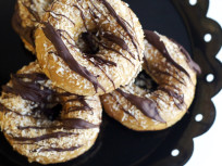 Baked Samoa Donuts: Girl Scout Goodness
