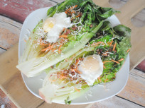 Grilled Romaine with Poached Eggs: Simple Summer Supper