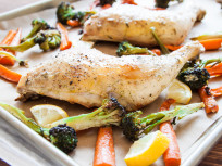 One Pan Roasted Chicken & Vegetables for Two