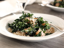 Kale Barley Salad with Grapefruit & Almonds