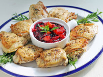 Pan Roasted Chicken with Peach Blueberry Sauce: Summer Supper