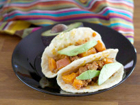 Sweet Potato Chorizo Breakfast Tacos