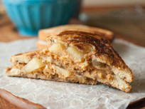 Apple Pie Grilled Peanut Butter Sandwich