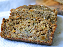Healthy Peach Banana Bread