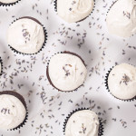 Chocolate Cupcakes with Lavender Goat Cheese Frosting Image