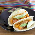 Sweet Potato Chorizo Breakfast Tacos Photo