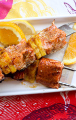 Salmon Skewers Photo