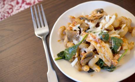 Chicken and Mushroom Pasta: A Bucket Full of Yum