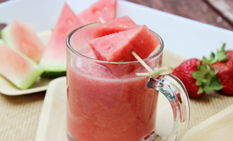Watermelon Strawberry All-Fruit Smoothie: Thirst-Quenching Summer Fun