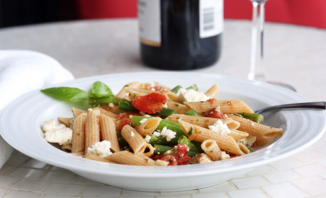 Parsley Pesto and Easy Elegant Pasta with Green Beans