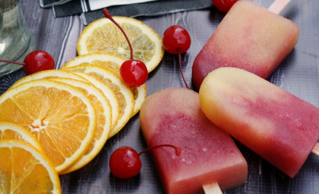 Tequila Sunrise Ice Pops to End All Ice Pops
