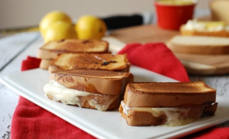 Lemon Mascarpone Grilled Cheese: Dessert Never Looked So Cheesy
