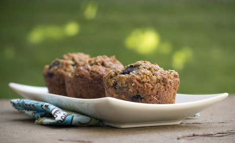 Blueberry Flax Muffins: Whole Grain Wholesome