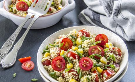 Quinoa Avocado Salad with Fresh Tomatoes and Sweet Corn
