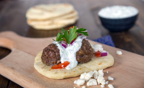 Greek Gyros with Meatballs