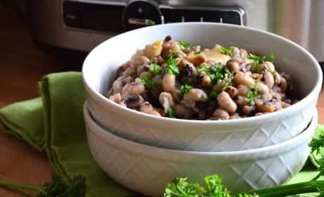 Slow Cooker Black Eyed Peas