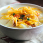 Cheddar Potato Soup: Double the Comfort
