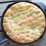 Easy Focaccia Bread Baked Up In Your Skillet