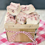 White Chocolate Raspberry Swirl Fudge