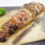 Bacon Wrapped Stuffed Pork Tenderloin