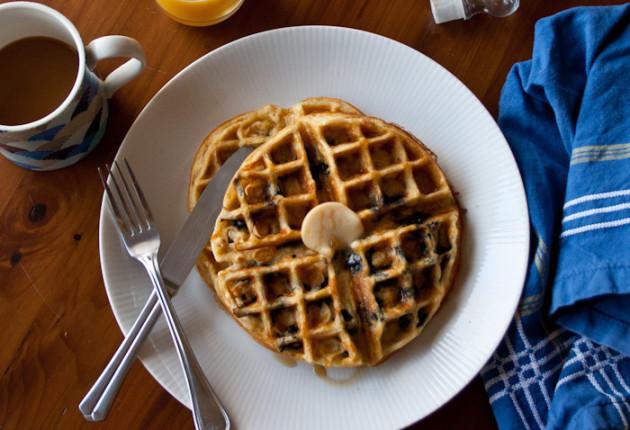 Blueberry Waffle Photo
