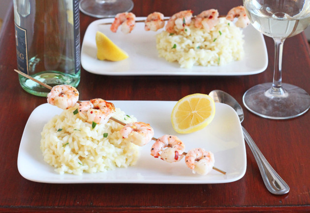 Lemon Risotto with Grilled Shrimp Picture