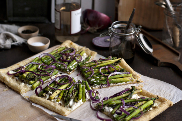 Asparagus and Goat Cheese Tart Picture