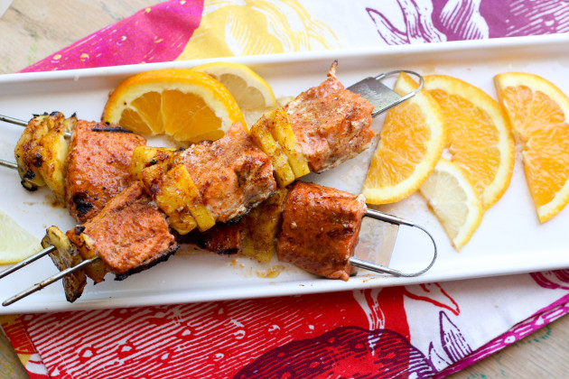 Paleo Salmon Kabobs & Fire Wire Giveaway