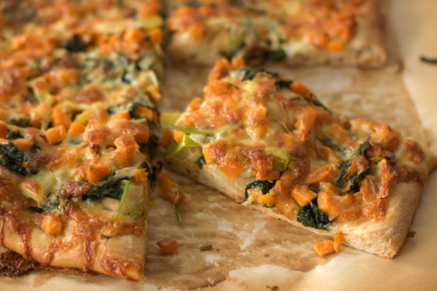 Kale and Sweet Potato Pizza Photo