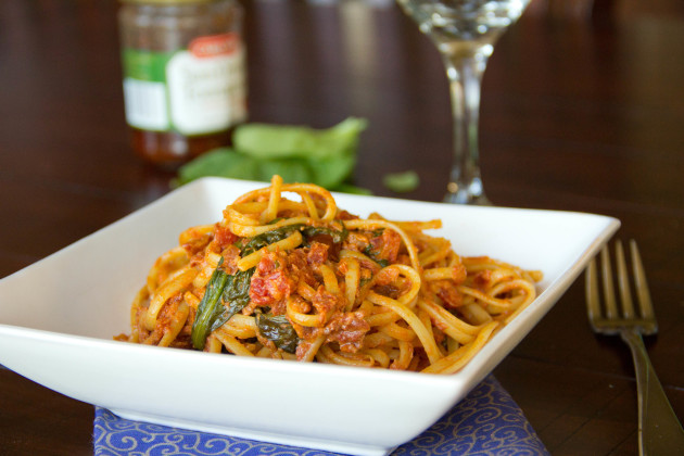 Sun Dried Tomato Pasta Photo