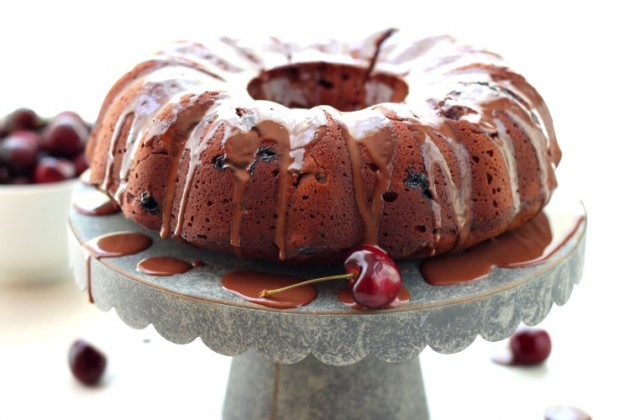 Chocolate Cherry Bundt Cake Photo